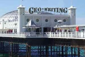 geowriting brighton pier
