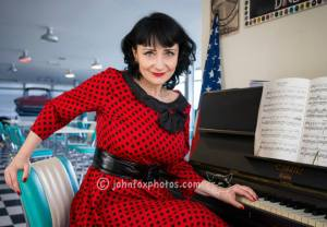 Sharon Zink at the piano
