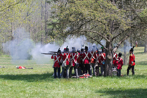 Red coats army