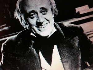Alister Sims playing Scrooge