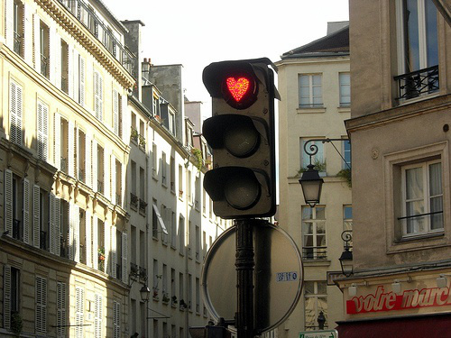 Romantic traffic-lights