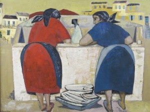 George Dillion painting Italian women