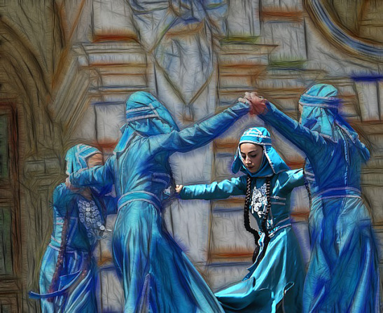 dancers in blue-1629965_640