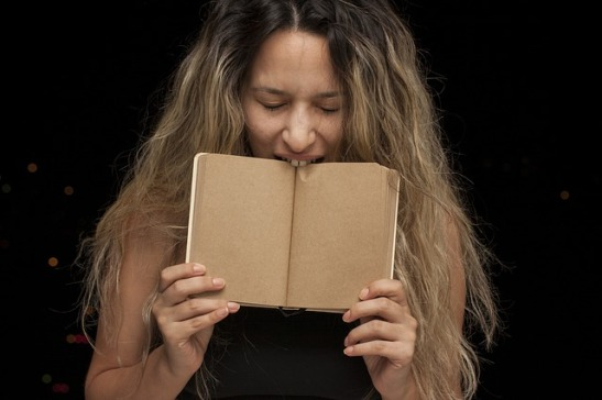 woman and notebook